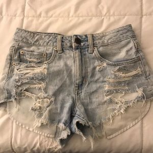 American Eagle Distressed Festival Shorts